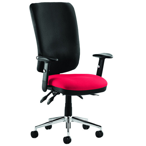 Chiro High Back Task Operator Office Chair Cherry Red Seat