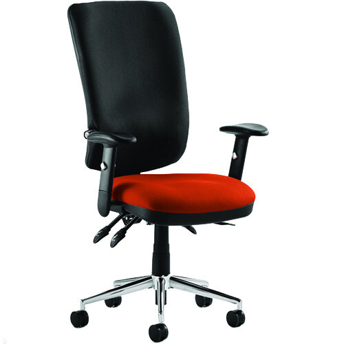 Chiro High Back Task Operator Office Chair Pimento Rustic Orange Seat
