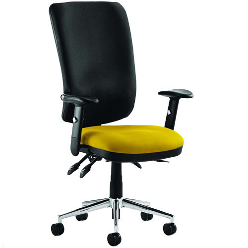 Chiro High Back Task Operator Office Chair Sunset Yellow Seat