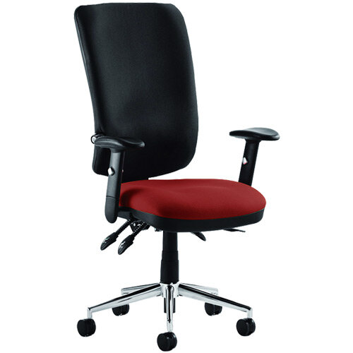 Chiro High Back Task Operator Office Chair Chilli Red Seat