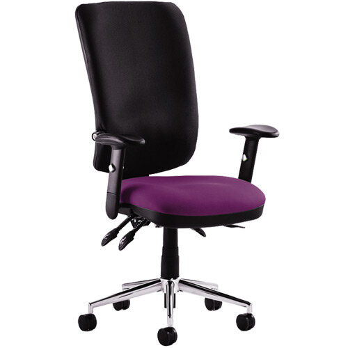 Chiro High Back Task Operator Office Chair Purple Seat