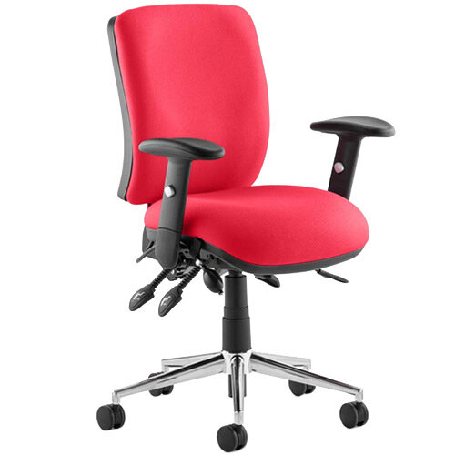 Chiro Medium Back Task Operator Office Chair Cherry Red