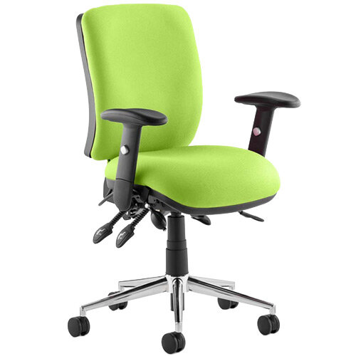 Chiro Medium Back Task Operator Office Chair Swizzle Green