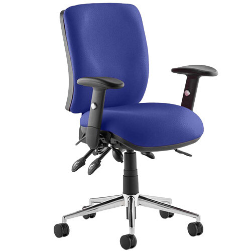 Chiro Medium Back Task Operator Office Chair Serene Blue
