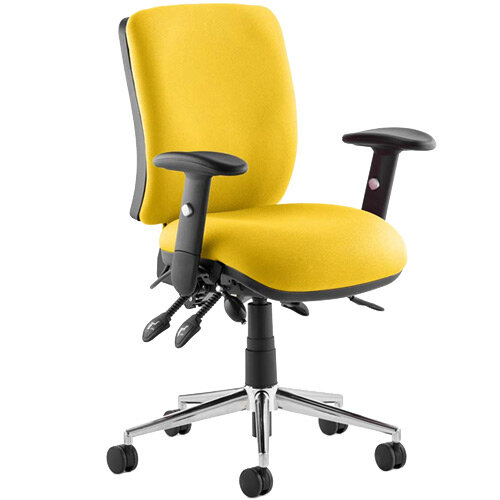 Chiro Medium Back Task Operator Office Chair Sunset Yellow