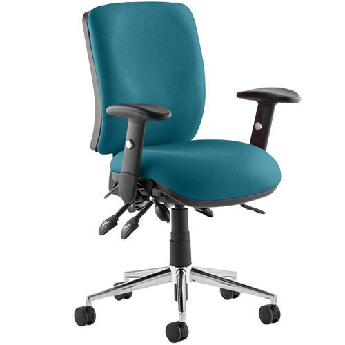 Chiro Medium Back Task Operator Office Chair Kingfisher Green