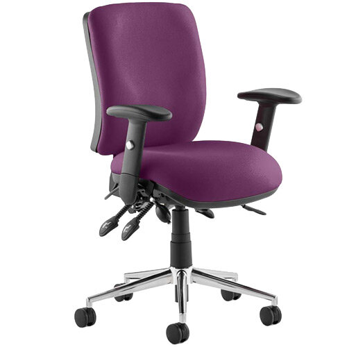 Chiro Medium Back Task Operator Office Chair Purple