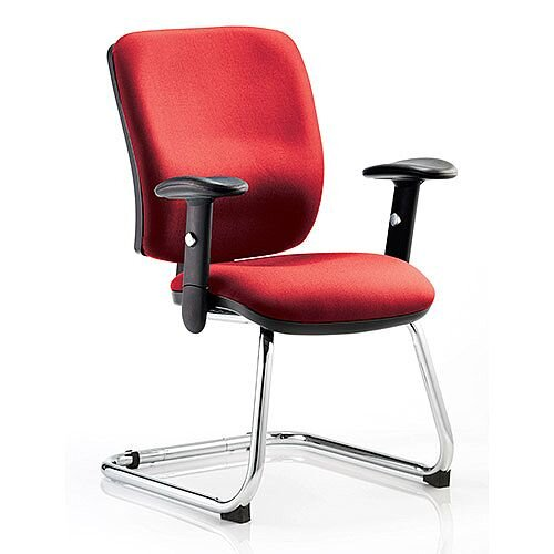Chiro Medium Back Cantilever Chair Cherry Red
