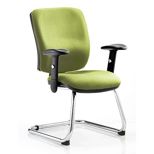 Chiro Medium Back Cantilever Chair Swizzle Green