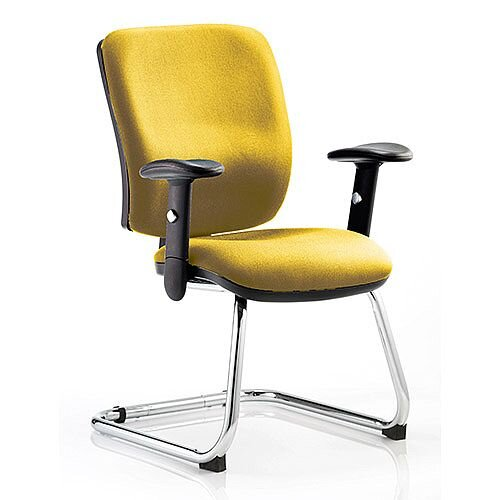 Chiro Medium Back Cantilever Chair Sunset Yellow