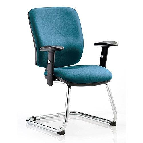 Chiro Medium Back Cantilever Chair Kingfisher Green
