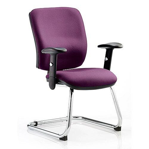 Chiro Medium Back Cantilever Chair Purple