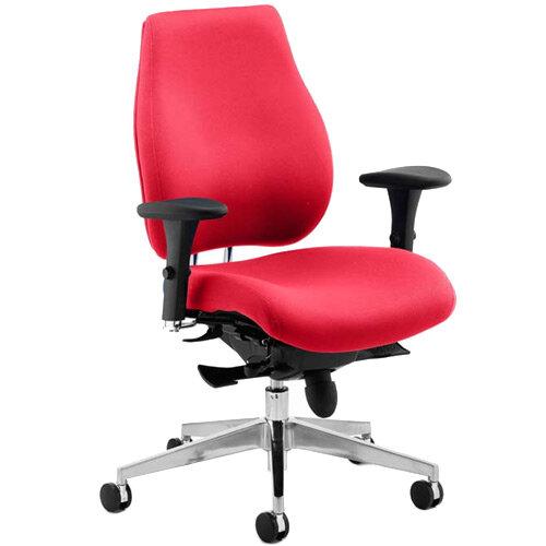 Chiro Plus High Back Ergonomic Posture Office Chair Cherry Red