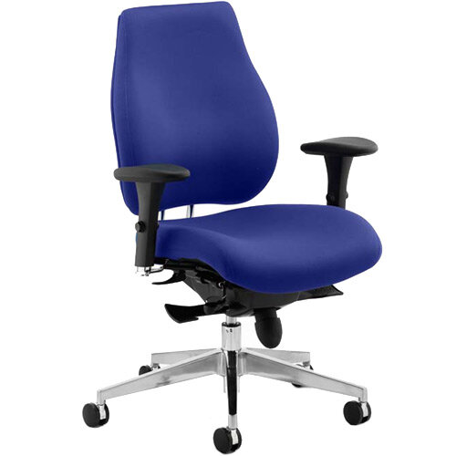 Chiro Plus High Back Ergonomic Posture Office Chair Serene Blue