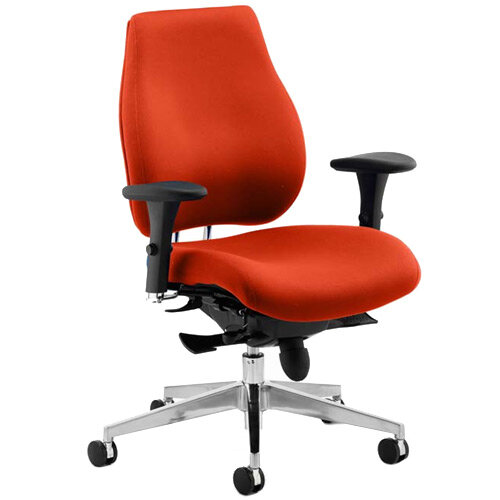 Chiro Plus High Back Ergonomic Posture Office Chair Pimento Rustic Orange