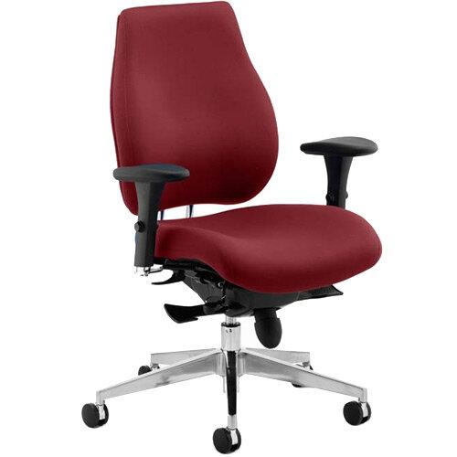 Chiro Plus High Back Ergonomic Posture Office Chair Chilli Red