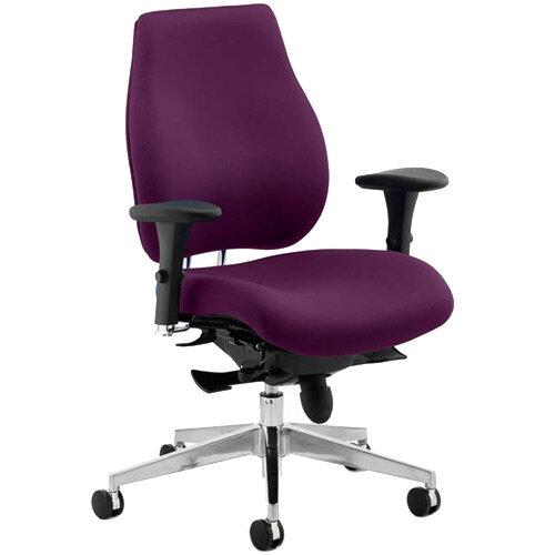 Chiro Plus High Back Ergonomic Posture Office Chair Purple