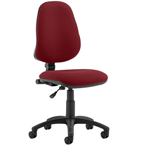 Eclipse I Lever Task Operator Office Chair Chilli Red