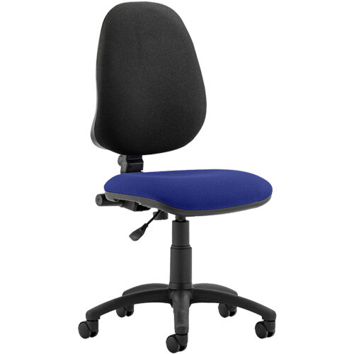 Eclipse I Lever Task Operator Office Chair Serene Blue Seat