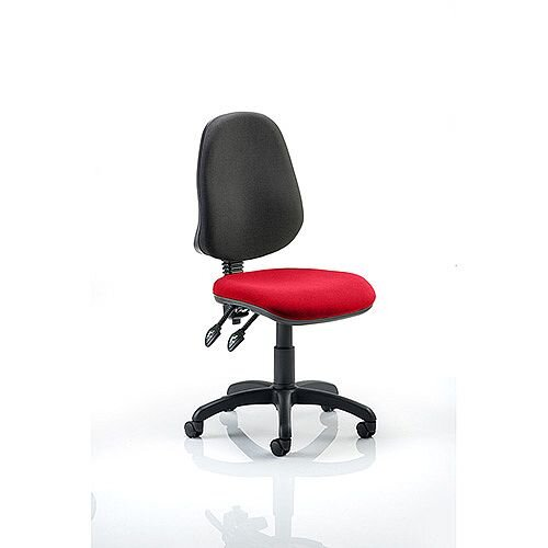 Eclipse II Lever Task Operator Office Chair Cherry Red Seat