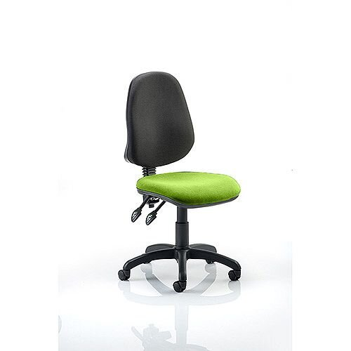 Eclipse II Lever Task Operator Office Chair Swizzle Green Seat