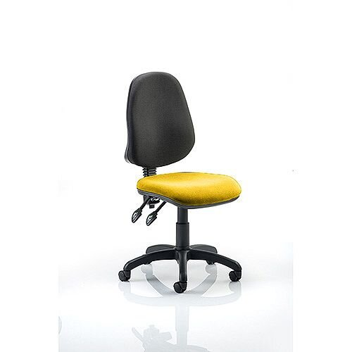 Eclipse II Lever Task Operator Office Chair Sunset Yellow Seat