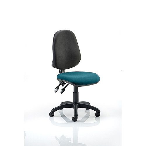 Eclipse II Lever Task Operator Office Chair Kingfisher Green Seat