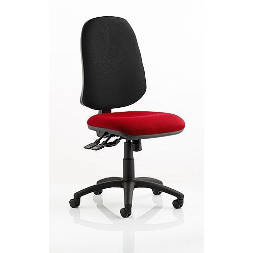 Eclipse XL III Lever Task Operator Office Chair Cherry Red Seat
