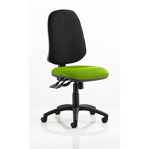 Eclipse XL III Lever Task Operator Office Chair Swizzle Green Seat