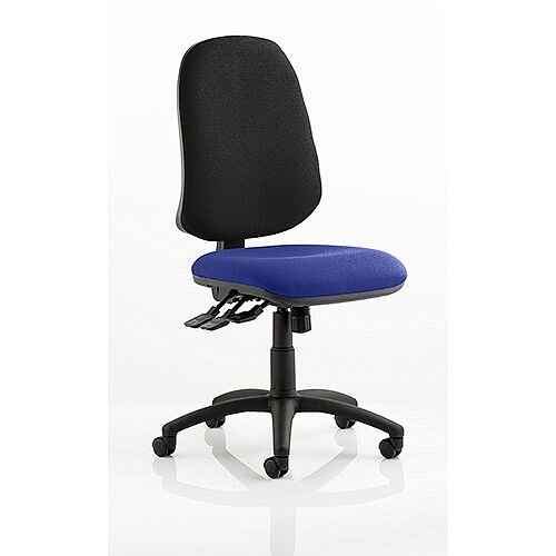 Eclipse XL III Lever Task Operator Office Chair Serene Blue Seat