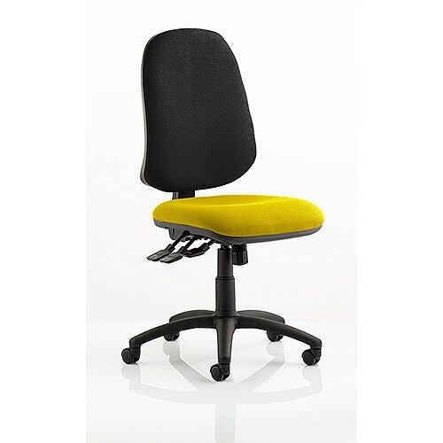 Eclipse XL III Lever Task Operator Office Chair Sunset Yellow Seat
