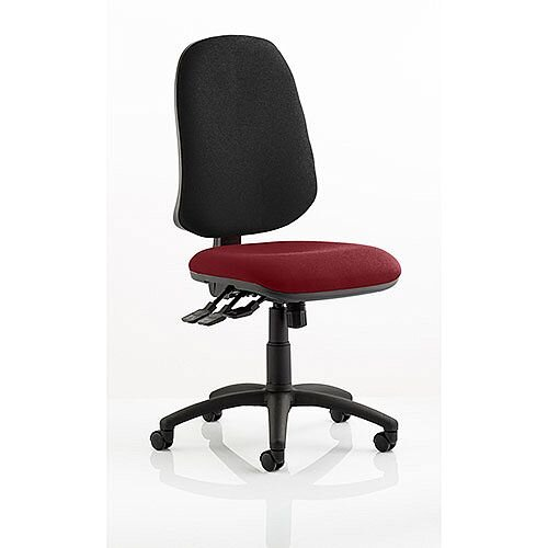 Eclipse XL III Lever Task Operator Office Chair Chilli Red Seat