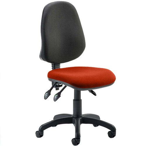 Eclipse III Lever Task Operator Office Chair Pimento Rustic Orange Seat
