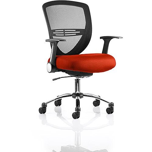 Iris Task Operator Office Chair Pimento Rustic Orange