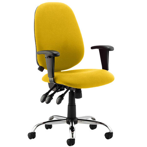 Lisbon High Back Task Operator Office Chair Sunset Yellow