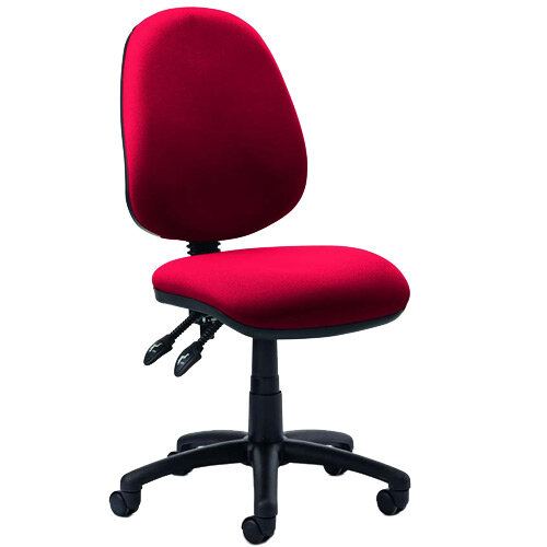Luna II Lever Task Operator Office Chair Cherry Red