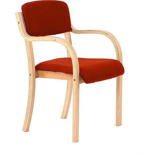 Madrid Boardroom &Visitor Chair With Arms Pimento Rustic Orange