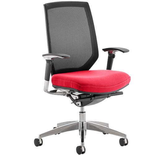 Midas High Mesh Back Task Operator Office Chair Cherry Red