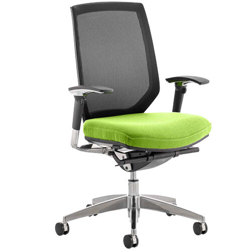 Midas High Mesh Back Task Operator Office Chair Swizzle Green