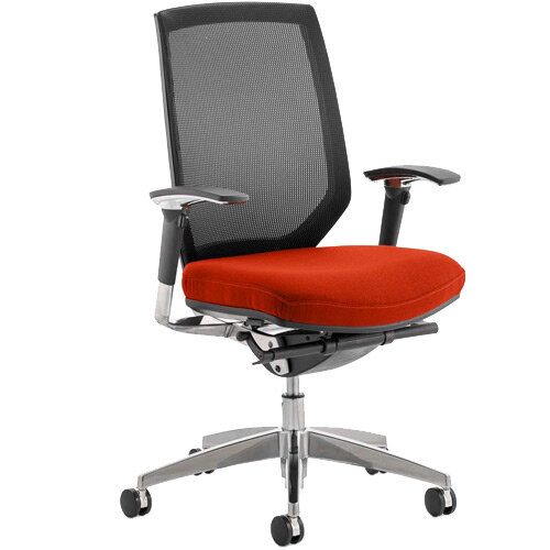 Midas High Mesh Back Task Operator Office Chair Pimento Rustic Orange