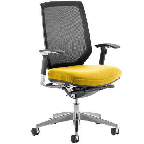 Midas High Mesh Back Task Operator Office Chair Sunset Yellow