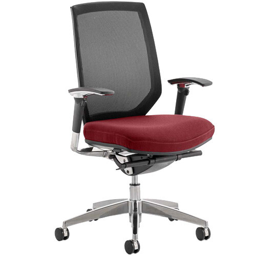 Midas High Mesh Back Task Operator Office Chair Chilli Red