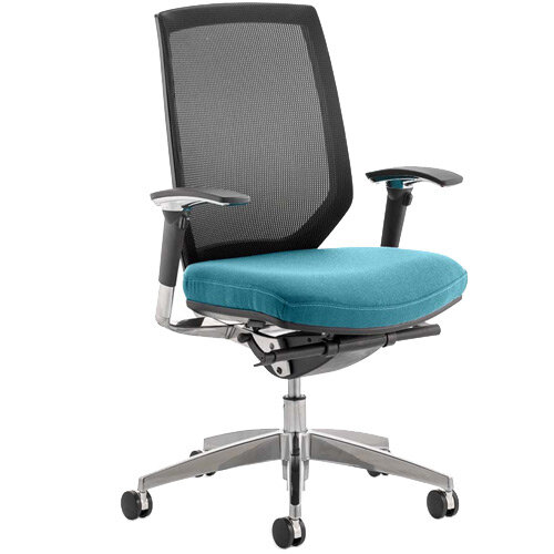 Midas High Mesh Back Task Operator Office Chair Kingfisher Green