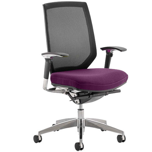 Midas High Mesh Back Task Operator Office Chair Purple
