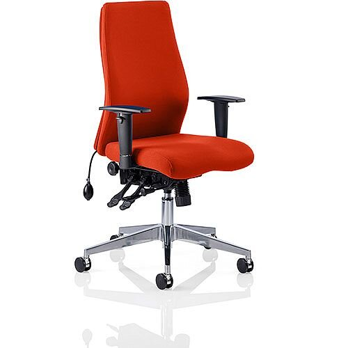 Onyx High Back Ergonomic Posture Office Chair Pimento Rustic Orange With Arms