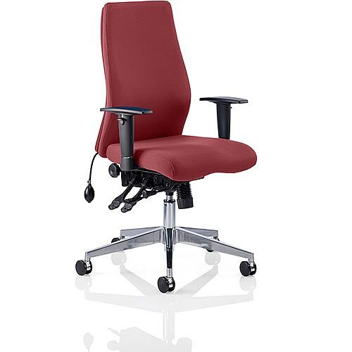 Onyx High Back Ergonomic Posture Office Chair Chilli Red With Arms