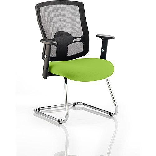 Portland Boardroom &Visitor Chair Cantilever Swizzle Green