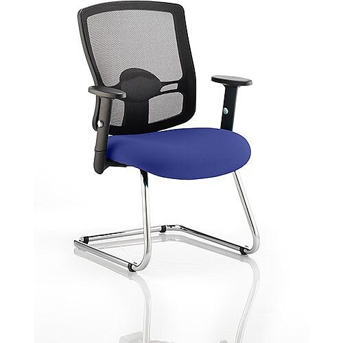 Portland Boardroom &Visitor Chair Cantilever Serene Blue