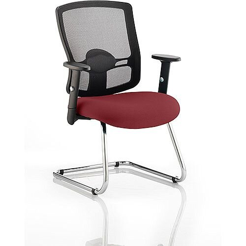 Portland Boardroom &Visitor Chair Cantilever Chilli Red
