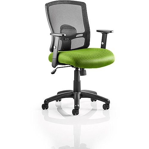 Portland Mesh Back Task Operator Office Chair Swizzle Green